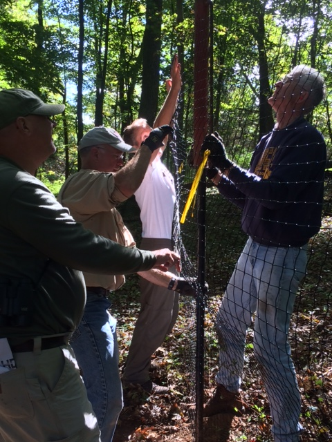 September 14, 2014 - Members of the Frenchtown Environmental Commission (FEC) led the effort to install a second, larger deer exclosure at the Frenchtown Preserve. Following the installation, FEC will work in adding other native plants inside the recently fenced deer exclosure. See Misc section for more pictures.