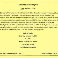 Free Rabies Clinic January 14th