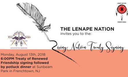 Lenape Rising Nation Treaty Signing & Potluck, August 13th