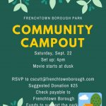 NEW DATE! Frenchtown Borough Park Community Campout September 22nd