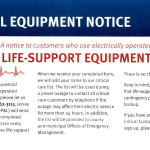 JCP&L Critical Equipment Notice for Frenchtown Residents