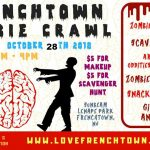RESCHEDULED – Zombie Crawl is NOW SUNDAY, October 28th from 12-4pm