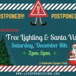 Tree Lighting & Santa Visit: Saturday, December 8th, 2pm-5pm
