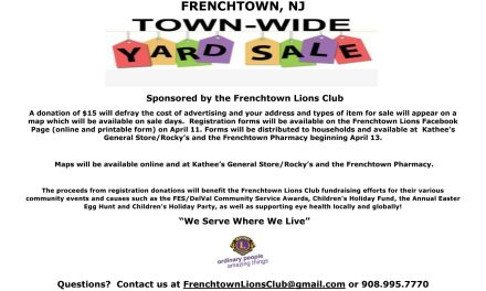 Frenchtown Lions Club Town-Wide Yard Sale – April 26th & 27th