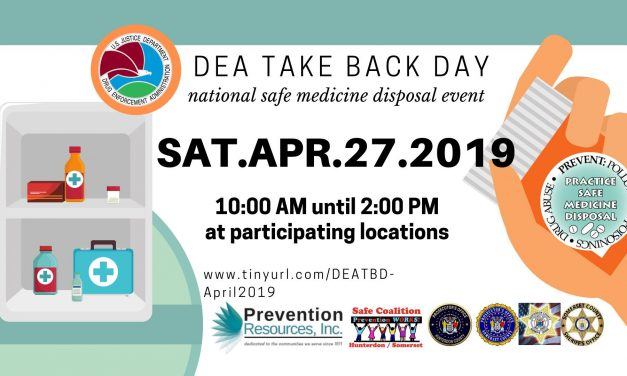 DEA Take Back Day NJ – April 27th 10am-2pm, Frenchtown Police Department