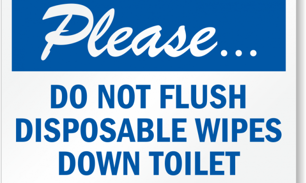 Don't flush disinfectant wipes!